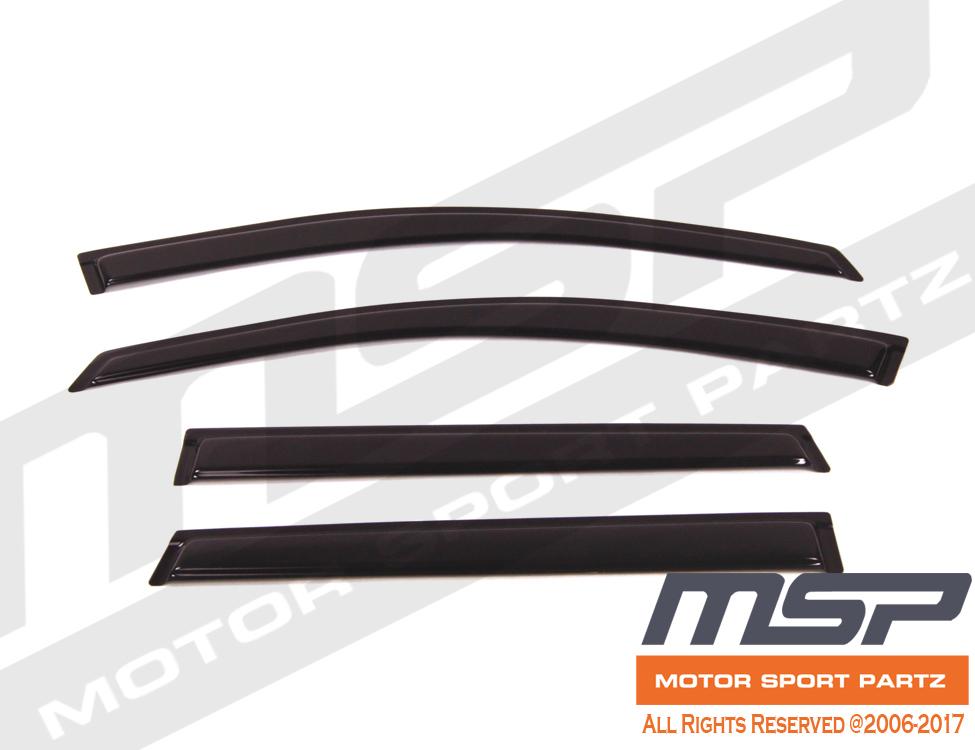 For Chevrolet Traverse 09-17 Dark Grey Out-Channel Window Visor Sun Guard 4pcs
