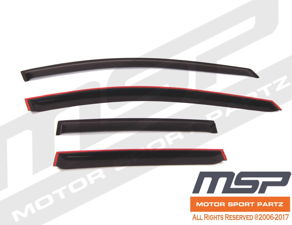 Ash Grey Outside Mount JDM Vent Visor Deflector 4pcs For Nissan Altima 4dr 07-12
