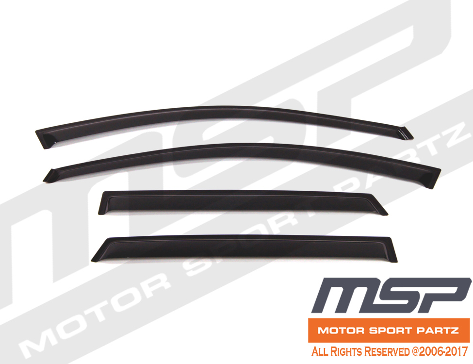 Smoke Tinted Out-Channel Vent Visor Deflector 4pcs For 2003-2008 Toyota Matrix