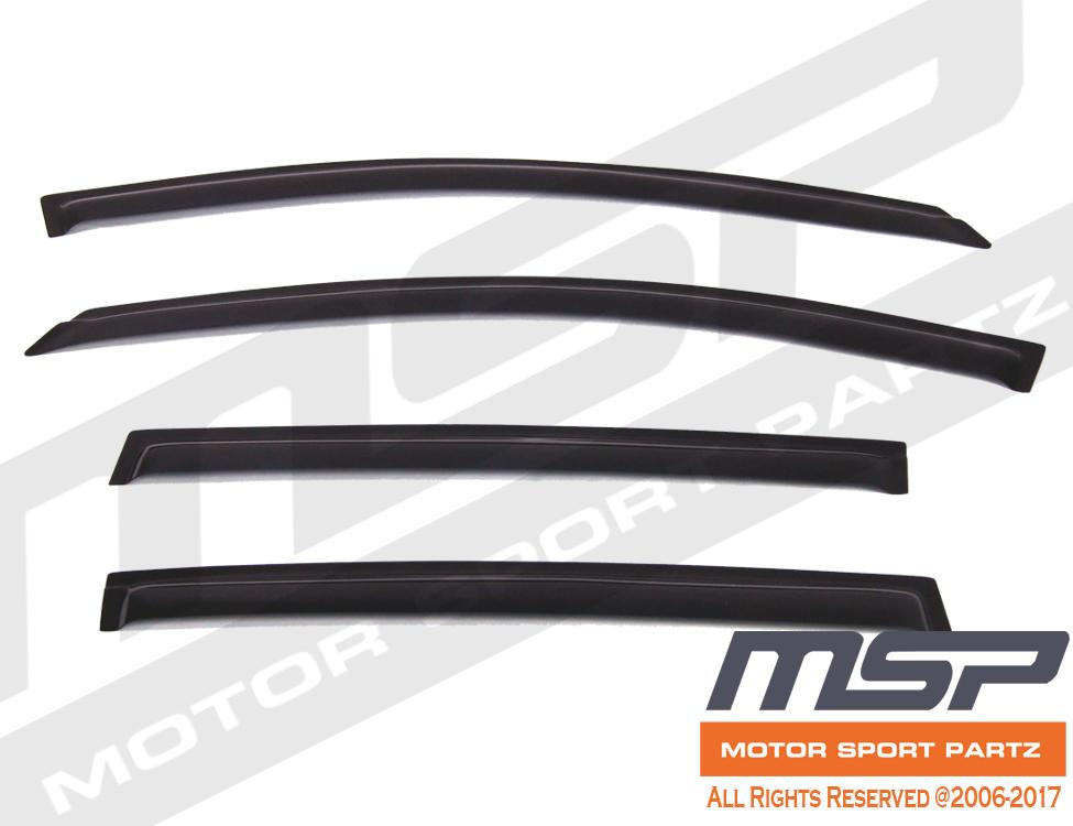Dark Grey Outside Mount JDM Vent Visors Deflector 4pcs For Chevy Sonic 4dr 12-16