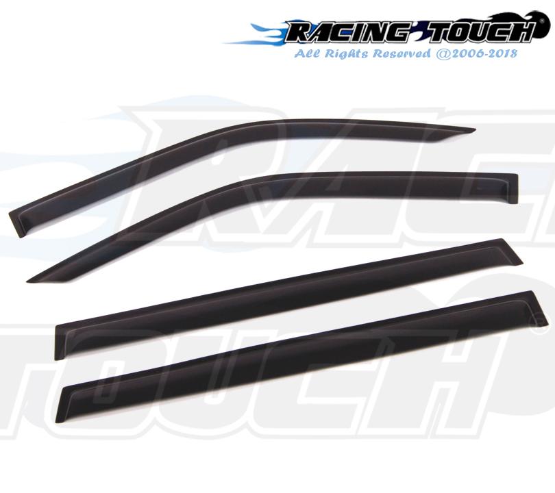 Dark Grey Outside Mount JDM Vent Visors 4pcs For Mitsubishi Montero Sport 96-07
