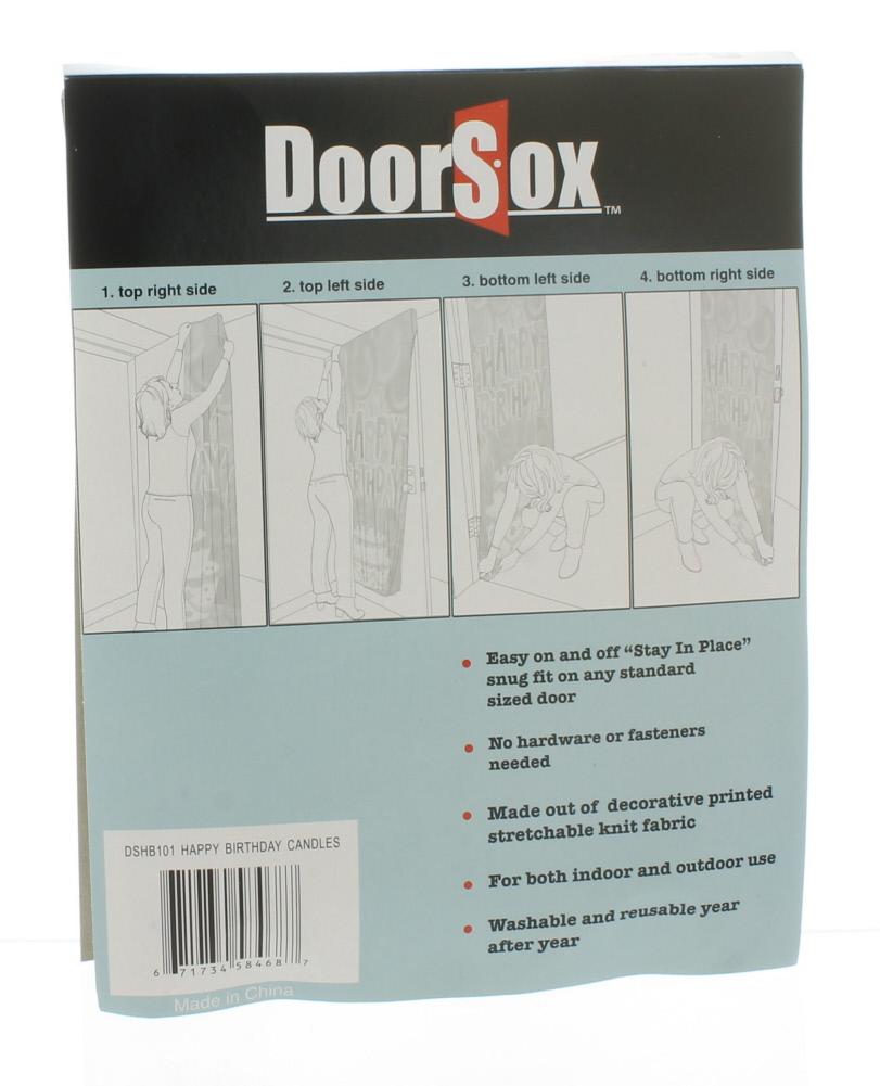 DoorSox Happy Birthday Candle Indoors Outdoors Door Cover Decoration