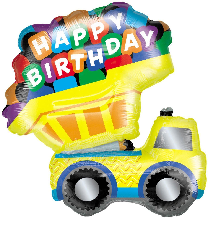 Details About XL 33 Dump Truck Happy Birthday Super Shape Mylar Balloon Party Decoration
