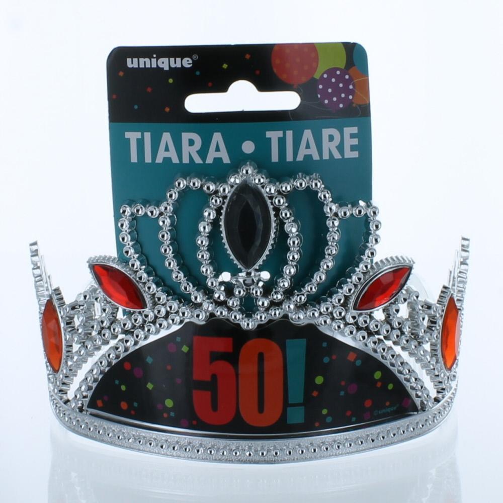 50th Birthday 50 Plastic Tiara Party Supplies