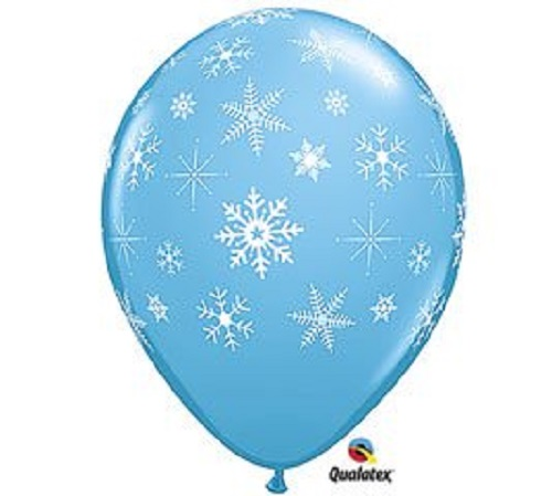 "10Pcs 12/"" Snowflake Latex Balloons Frozen Birthday Party Decoration Balloons"