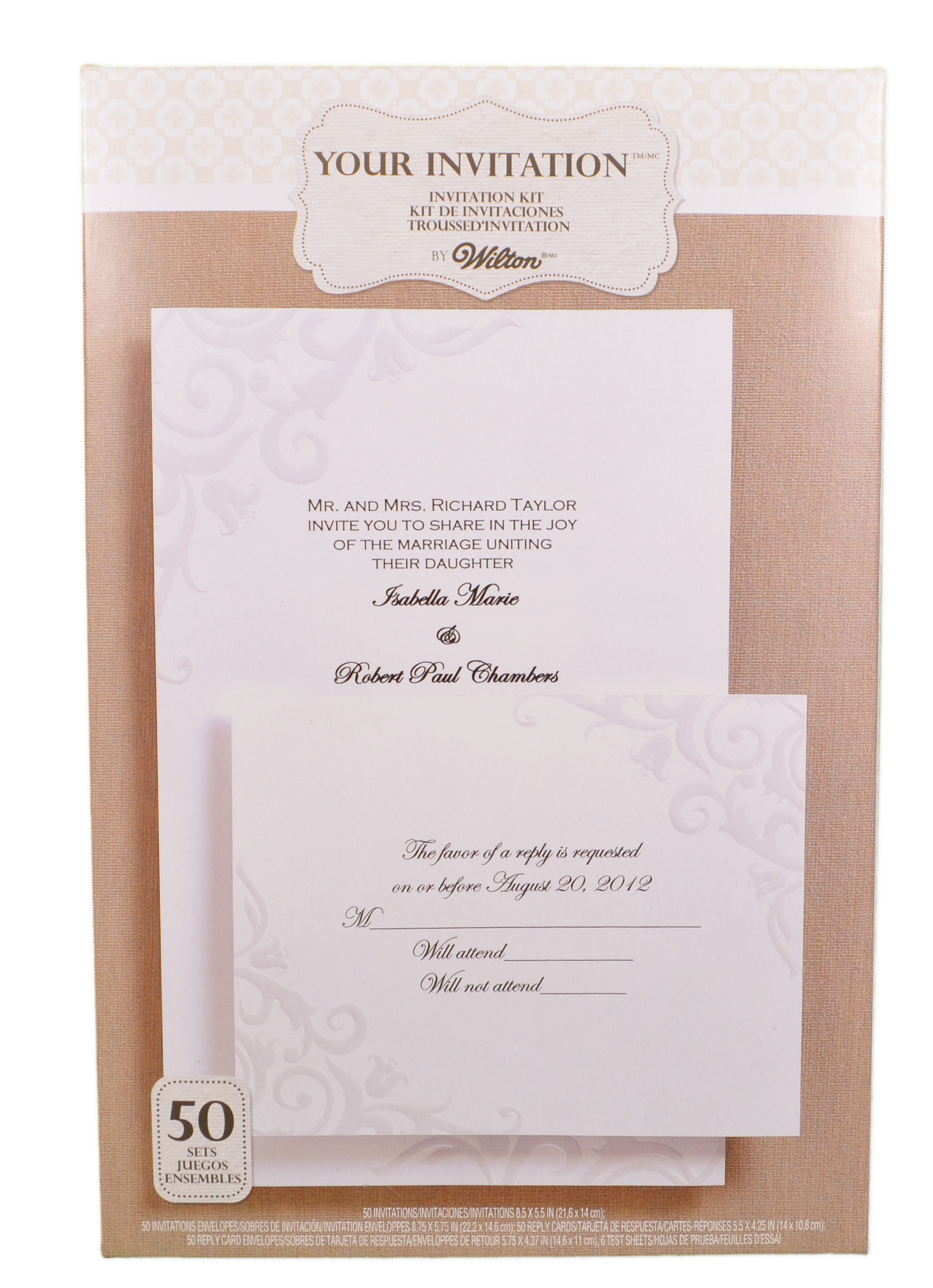 Wilton wedding invitation kit lily of the valley pearl 50 for Www wiltonprint com templates