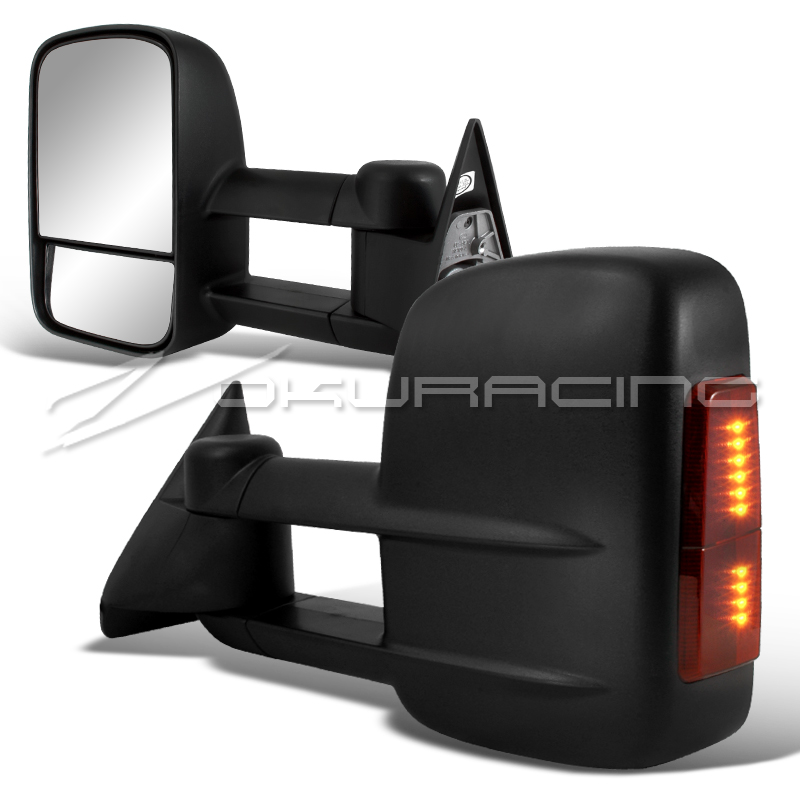 buy 88 98 chevy c k 1500 2500 3500 power towing tow hauling led signal side mirrors motorcycle. Black Bedroom Furniture Sets. Home Design Ideas