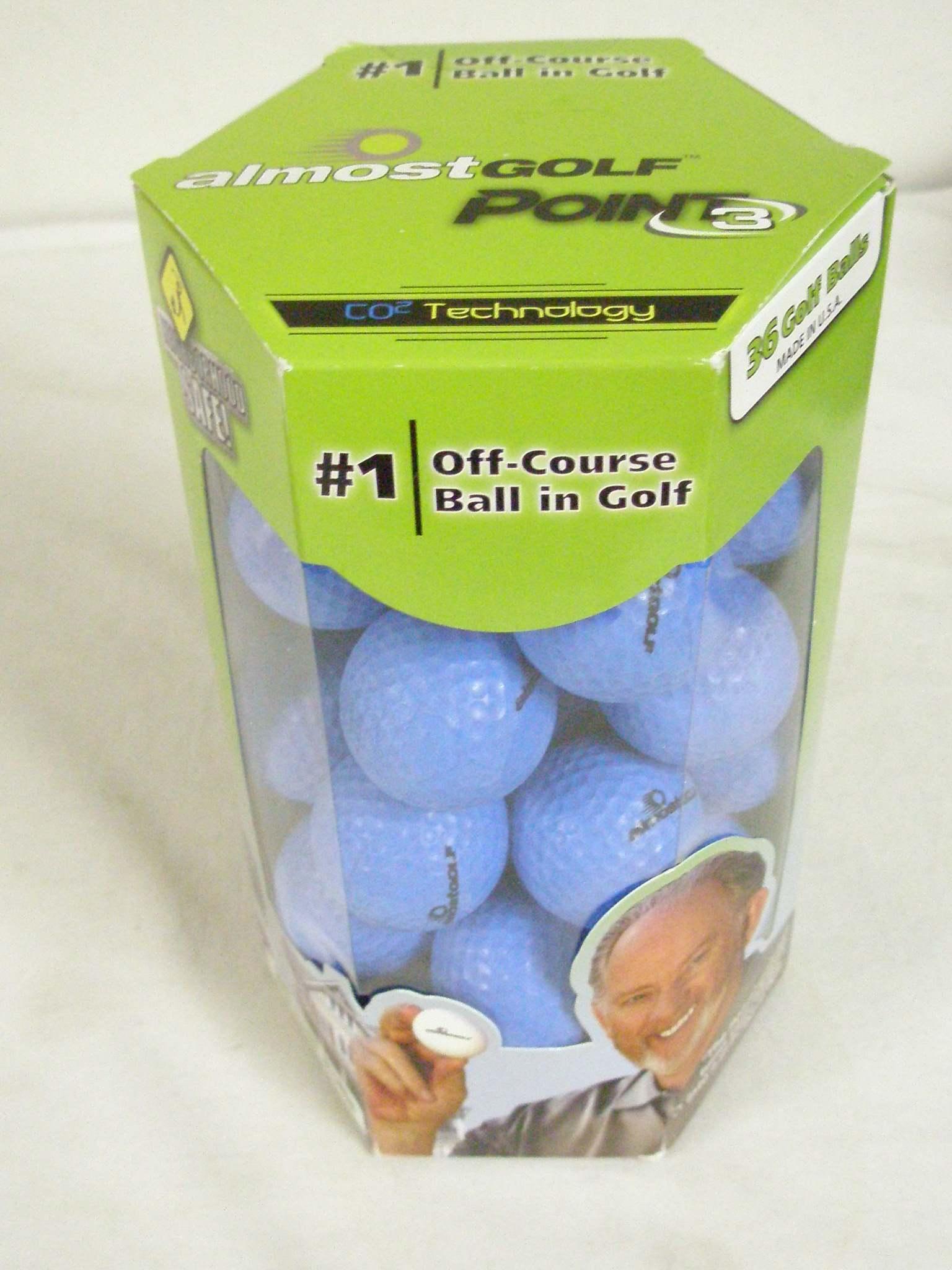 3 golf balls almost - 4 4