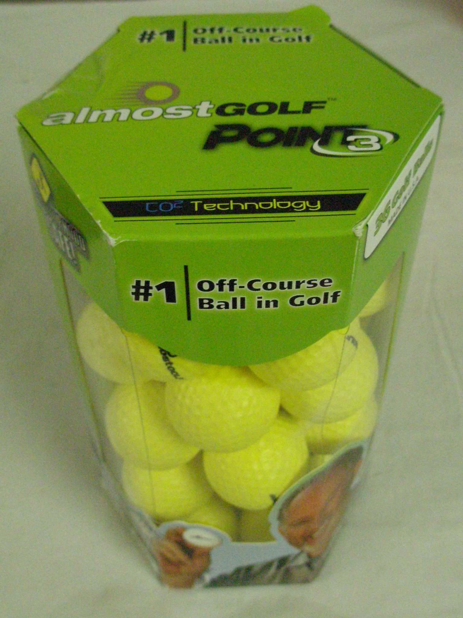 3 golf balls almost - 5 6