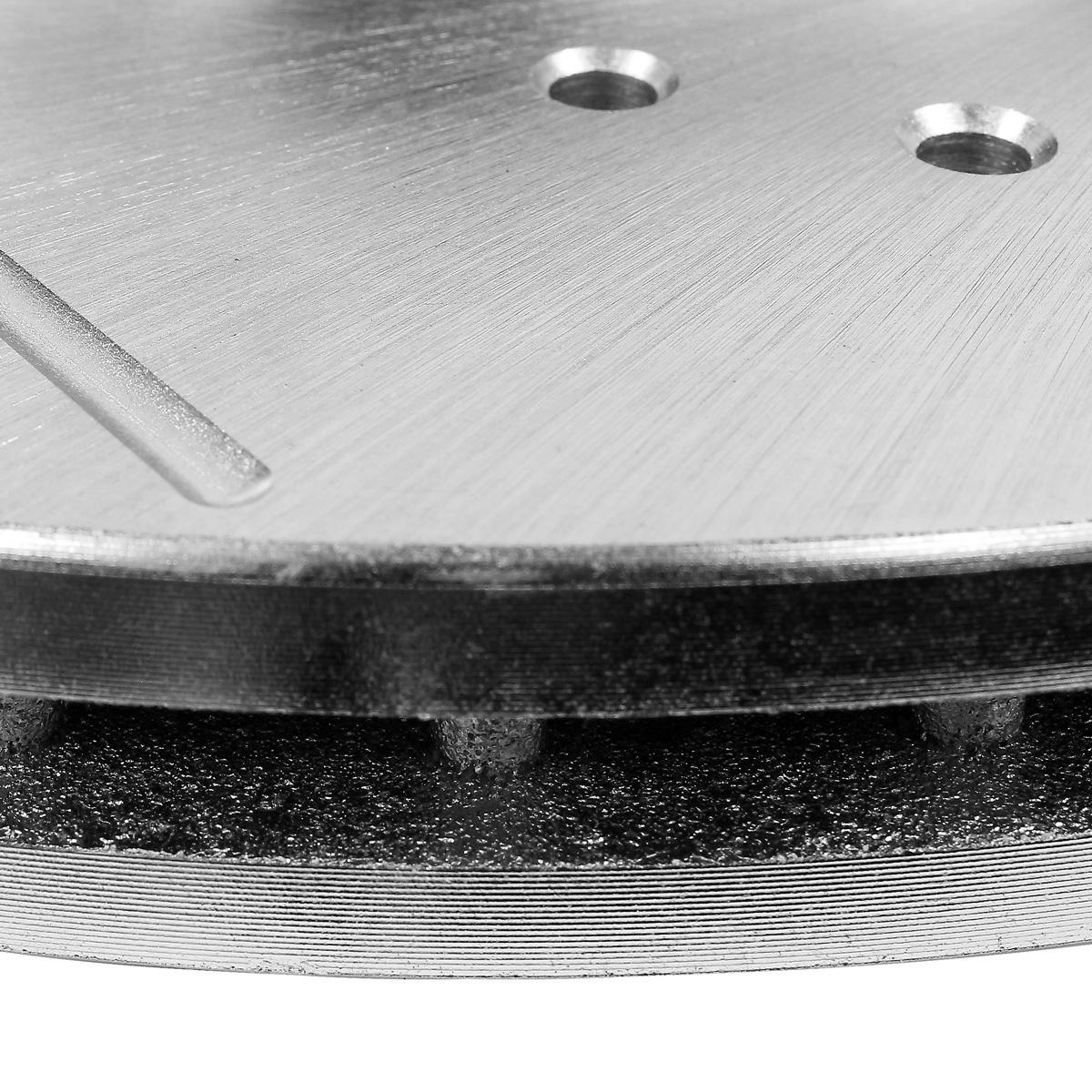 Rear Black Drill Slot Brake Rotors For 09-14 Acura TSX 05