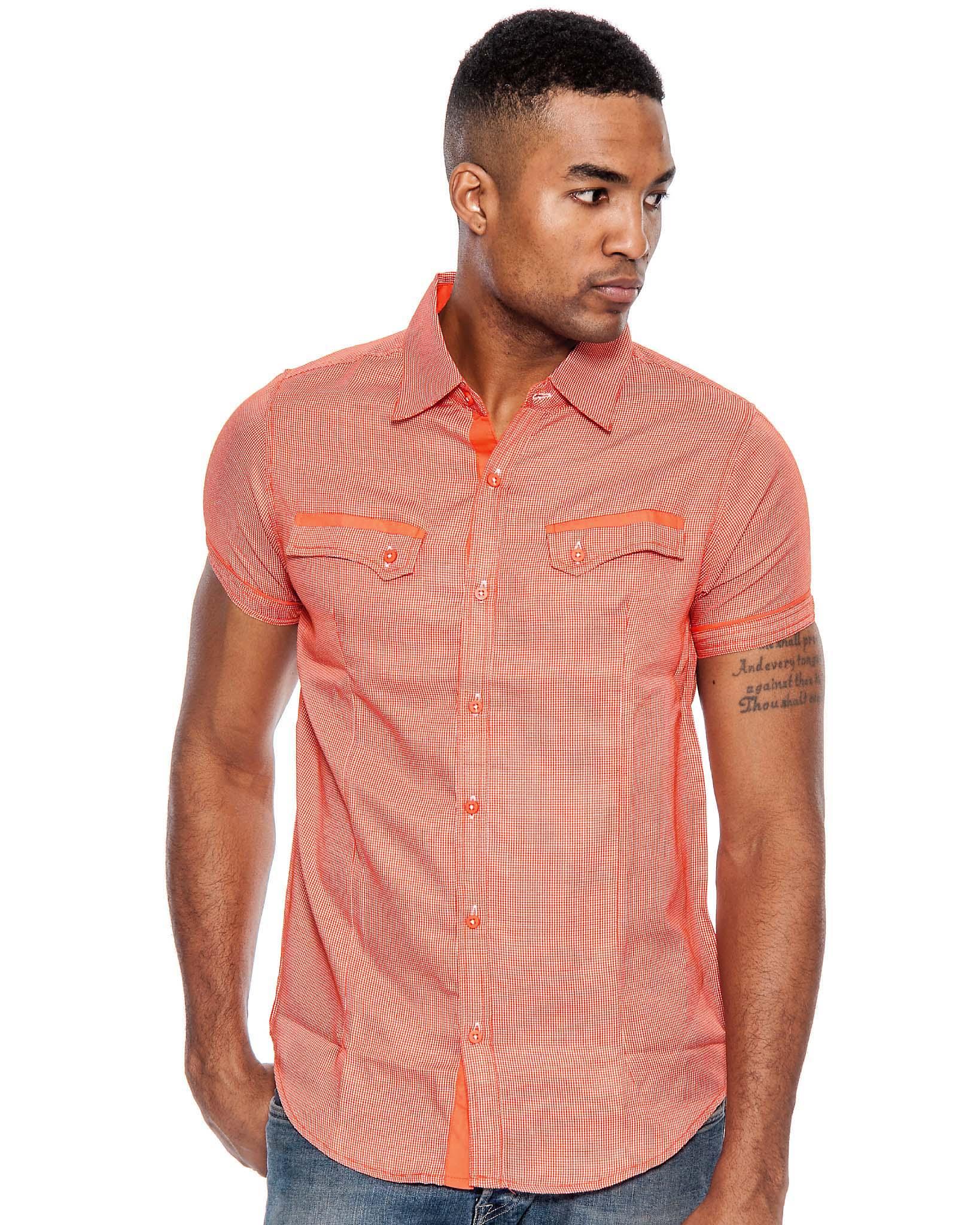 True Rock Men's Poker Short Sleeve Slim Fit Button Down Shirt | eBay