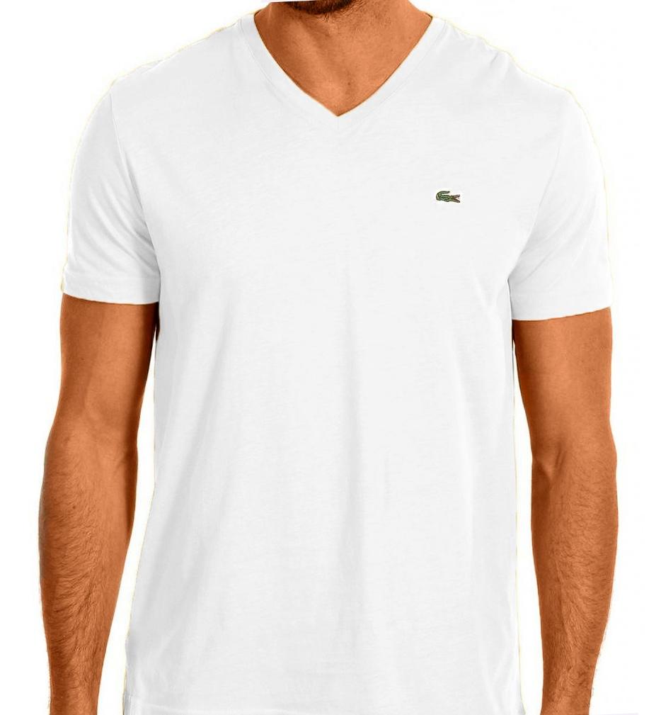 lacoste men 39 s short sleeve v neck pima cotton t shirt ebay. Black Bedroom Furniture Sets. Home Design Ideas