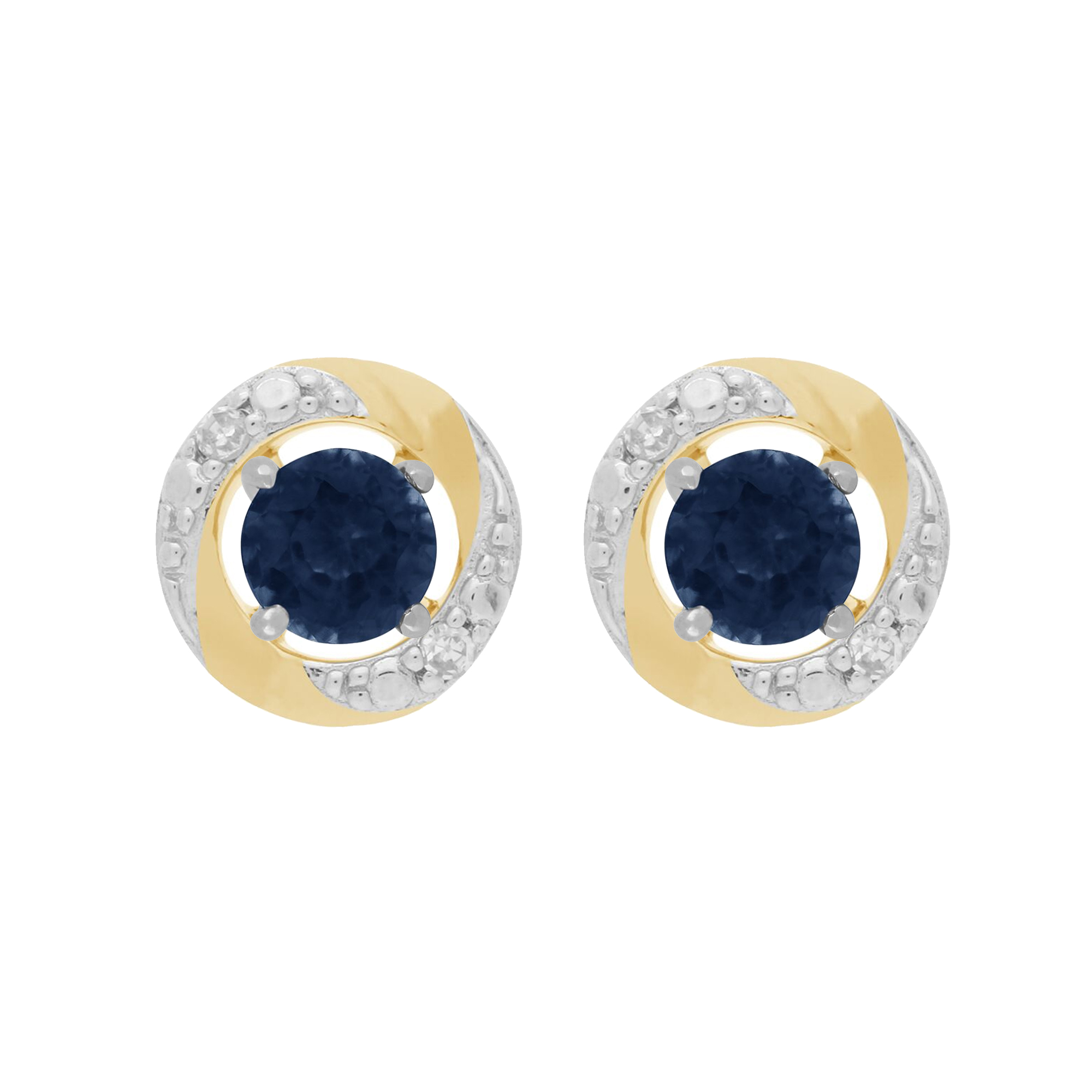 a790ba28c0be8 Details about 9ct White Gold Blue Sapphire Stud Earrings & Detachable  Diamond Halo Ear Jacket
