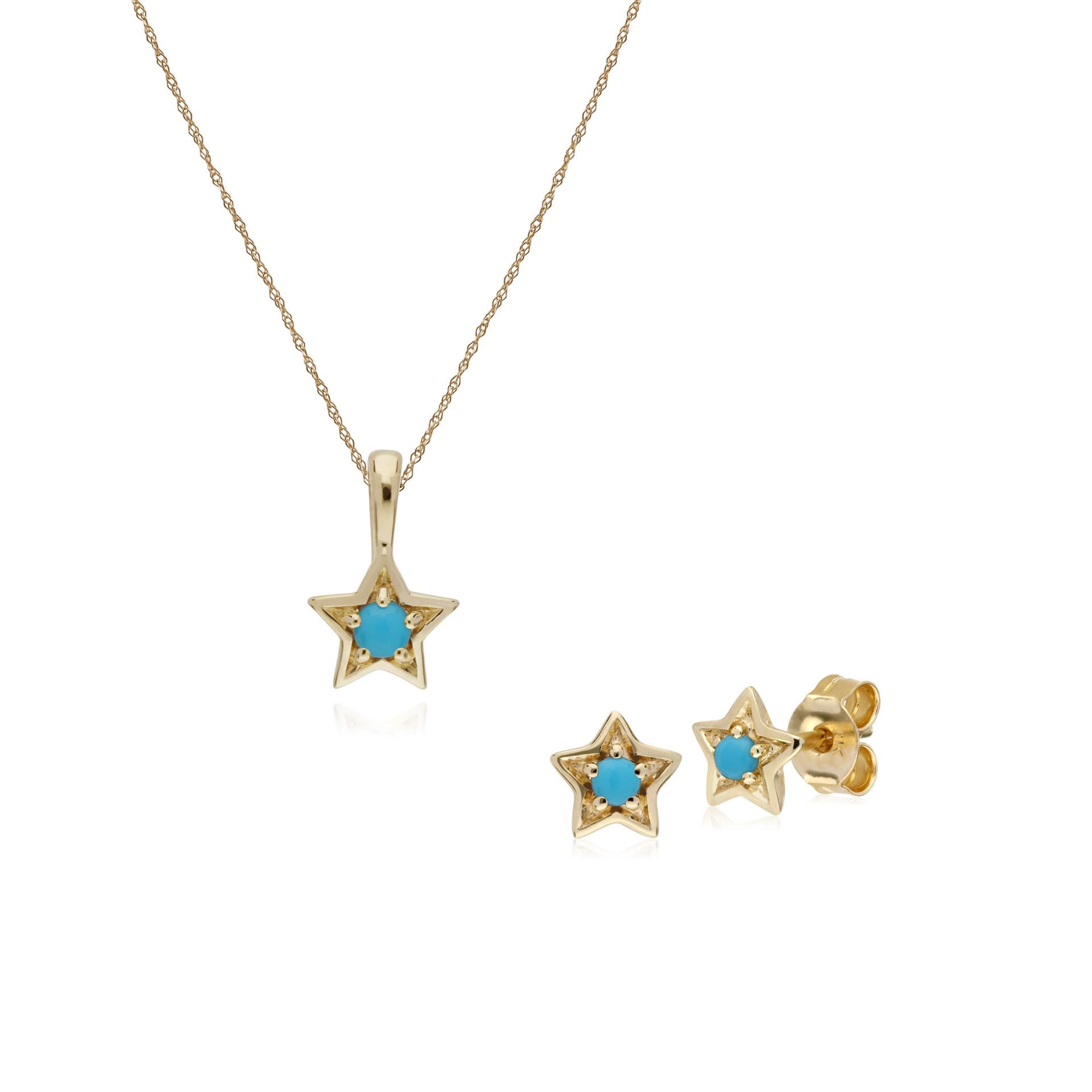 Gemondo 9ct Yellow Gold Opal Single Stone 45cm Necklace
