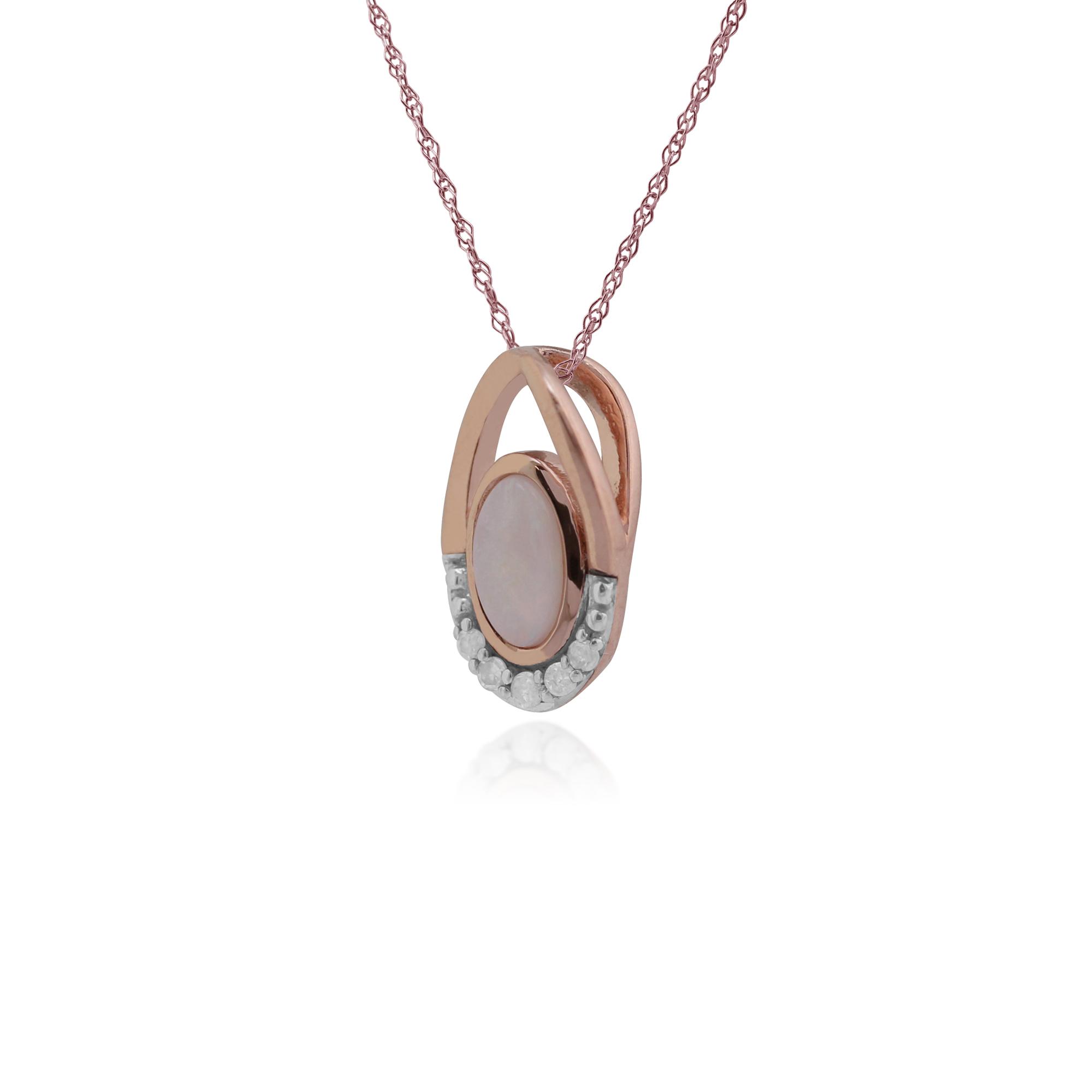 gemondo 9ct gold 0 15ct opal pendant on