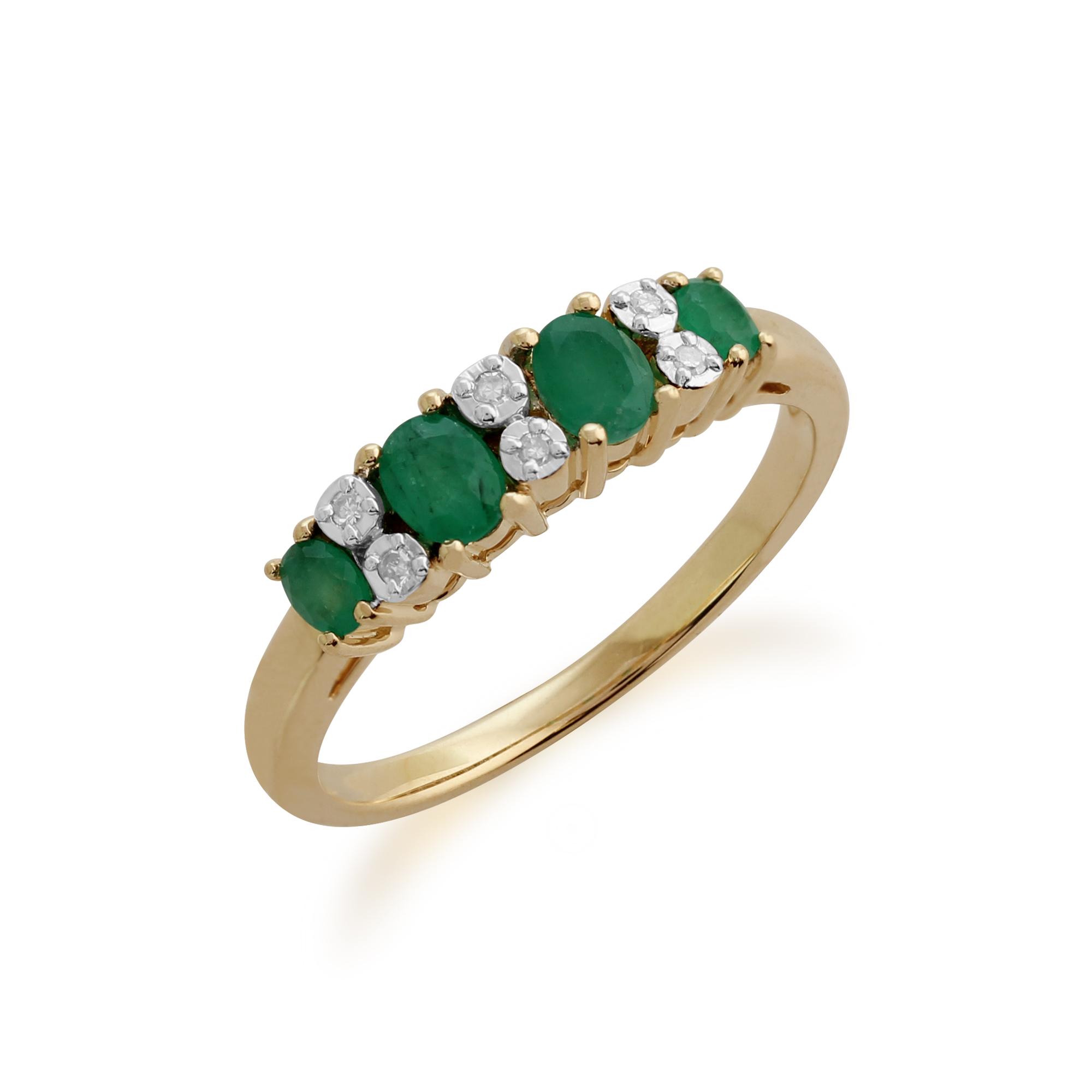 gemondo 9ct yellow gold 0 53ct emerald half