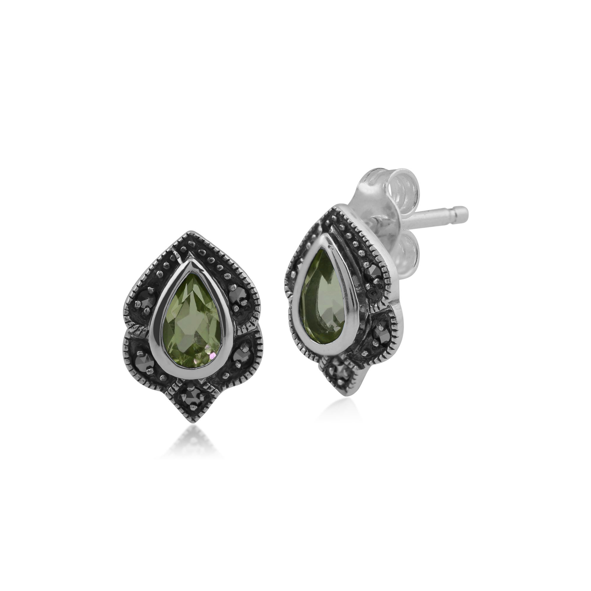 925 plata esterlina 0.03ct Marcasita Rennie Mackintosh estilo anillo de estilo Art Nouveau