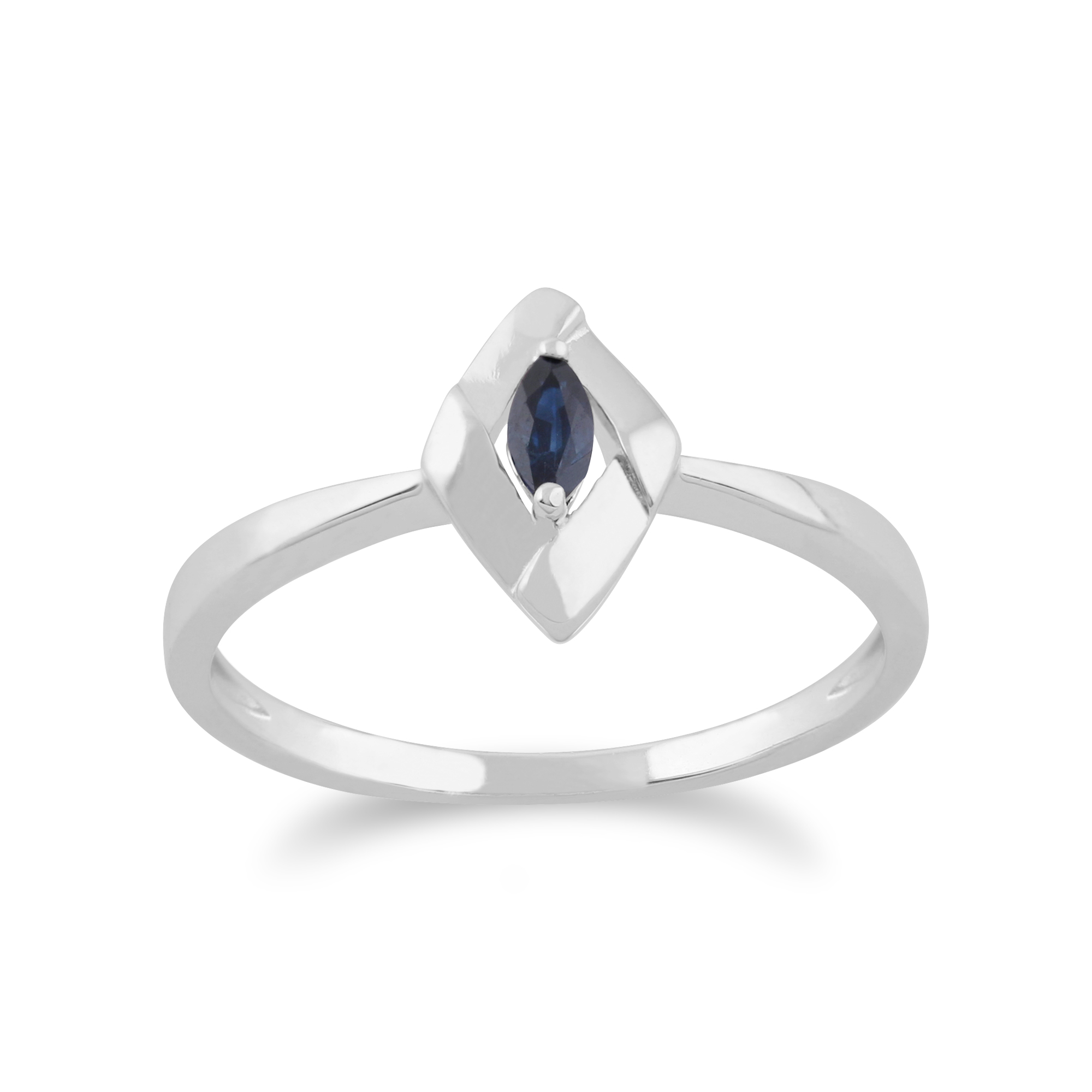 Gemondo 925 Sterling Silver 0.13ct Sapphire Stackable Birthstone Ring