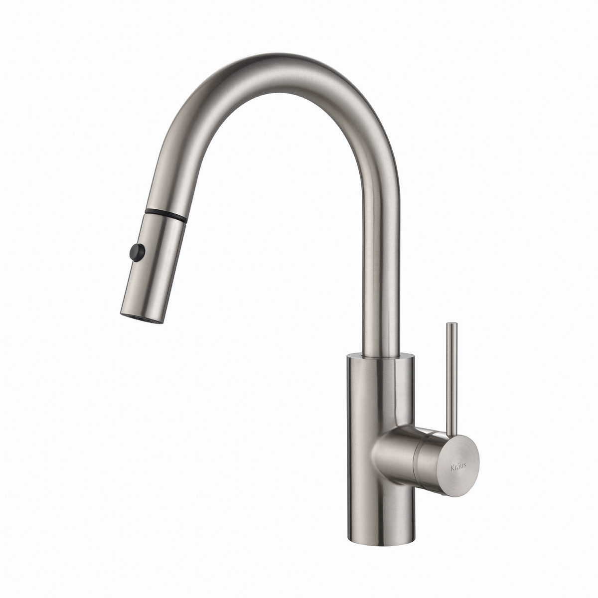KRAUS KPF-2620SS Oletto 1 Handle Pull Down Faucet QuickDock Deck ...