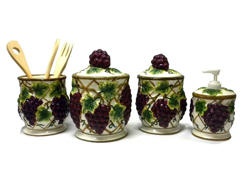 Grape Kitchen Canister Set