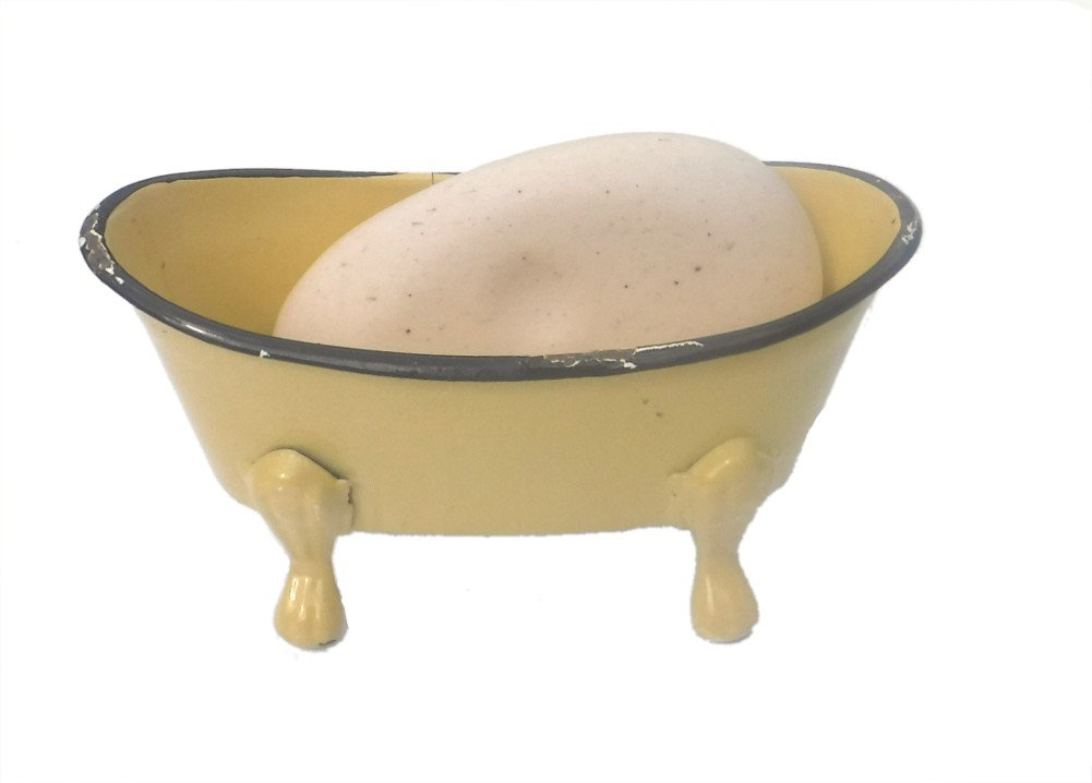 Vintage Style Clawfoot Tub Shaped Metal Soap Dish