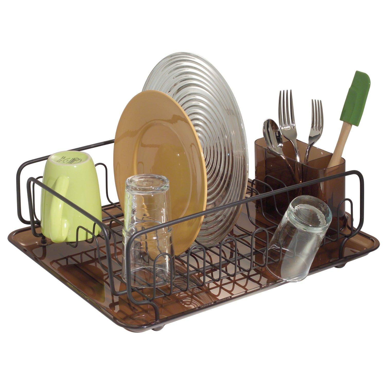 BRONZE Amber DISH Drying Drainer Rack Kitchen Decor
