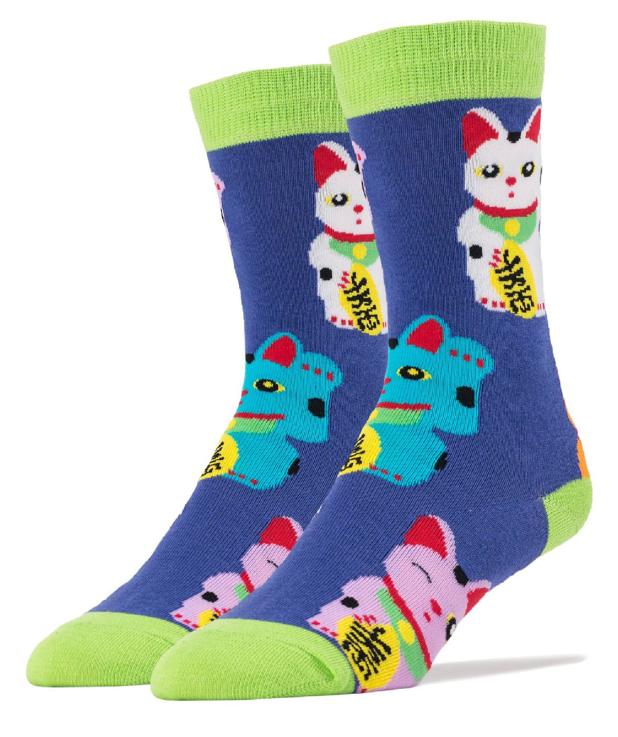 099a33d96e3f8 Oooh Yeah Men'S Luxury Combed Cotton Crew Socks - Lucky Cat ...