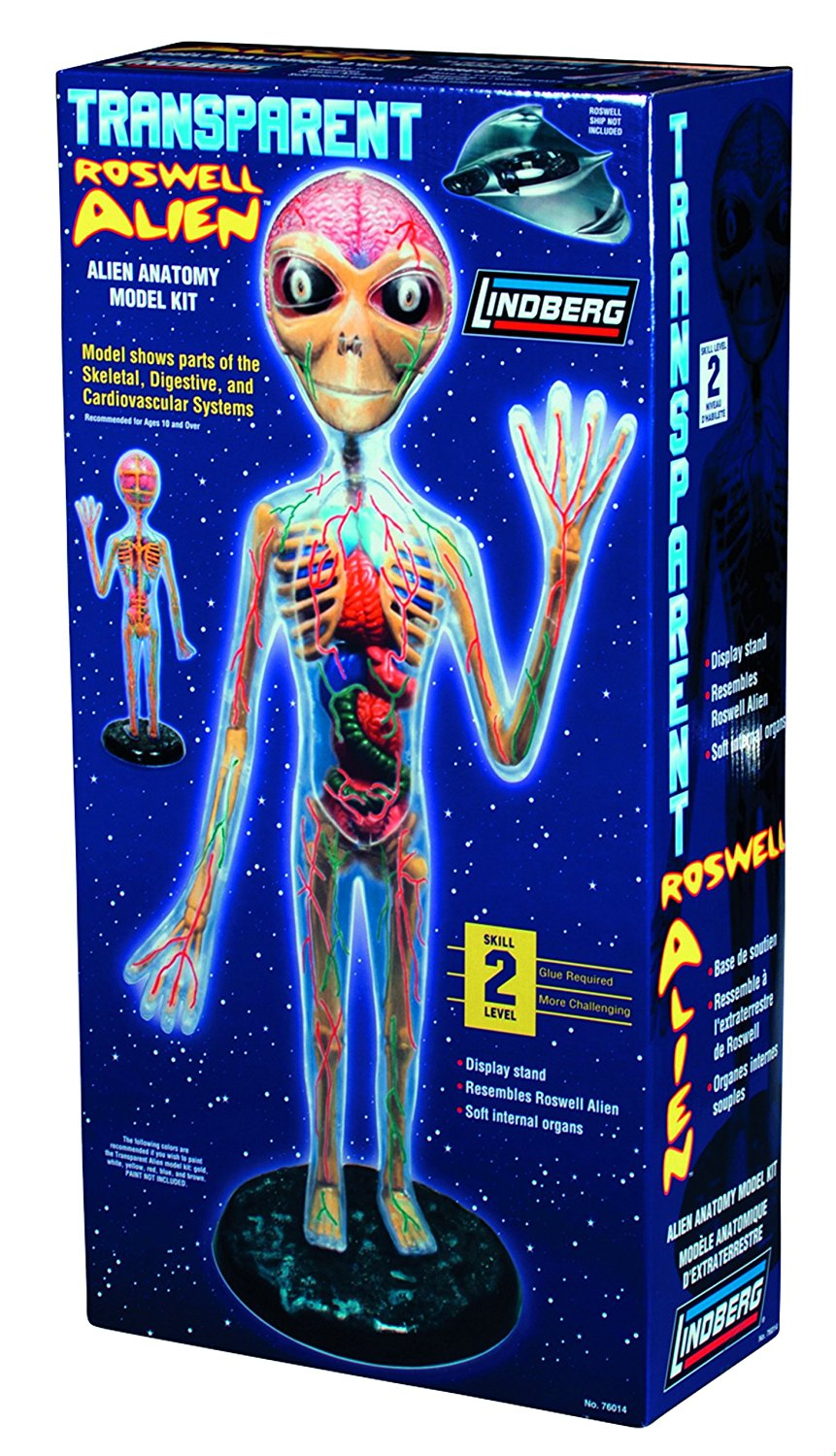 Lindberg Clear Visible Transparent Roswell Alien Anatomy Kit ...