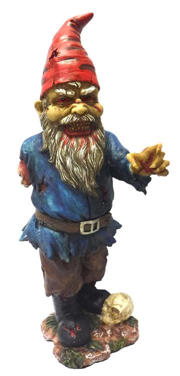 Gnome In Garden: Creepy Halloween Zombie Gnome Undead Garden Yard Art