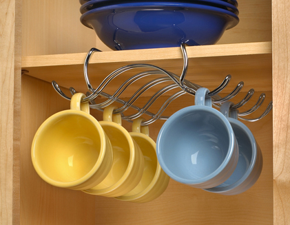 Chrome Coffee Cup Mug Rack Holder Cabinet Organizer New Ebay
