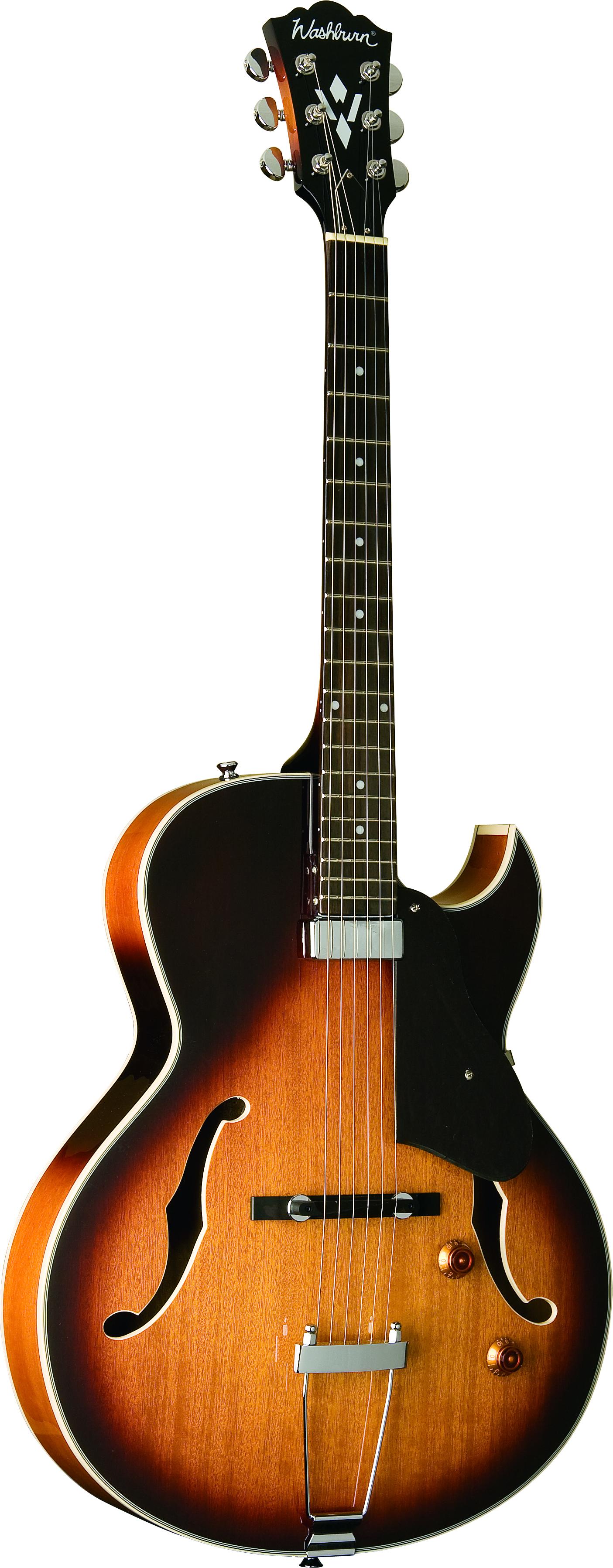 washburn hb15ctsk hollowbody electric guitar with case ebay. Black Bedroom Furniture Sets. Home Design Ideas