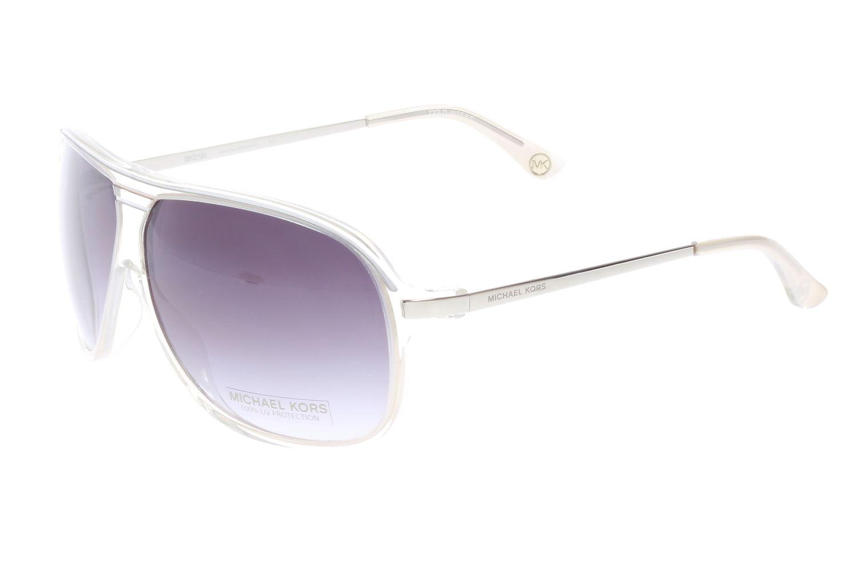 414434a0615 Details about Michael Kors Medina (M2454S) 042 Silver Metallic Aviator  Sunglasses