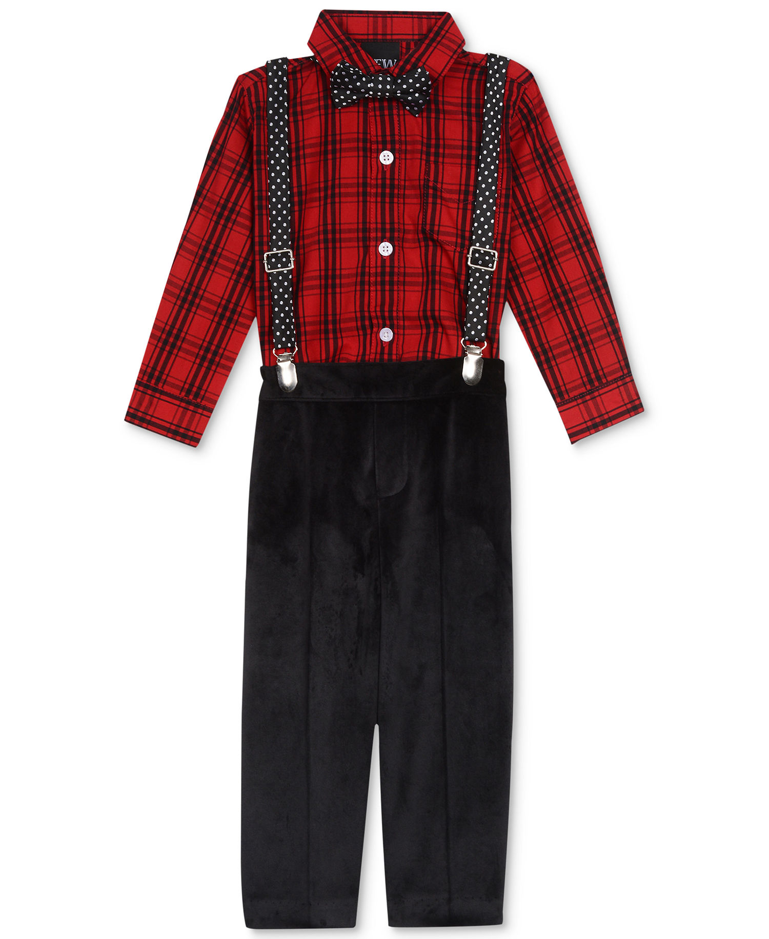 bbeb1b0ab Details about Nautica Baby Boys 4-Pc Bowtie, Suspenders, Top & Bottom Set  (12-18 Months, Red)