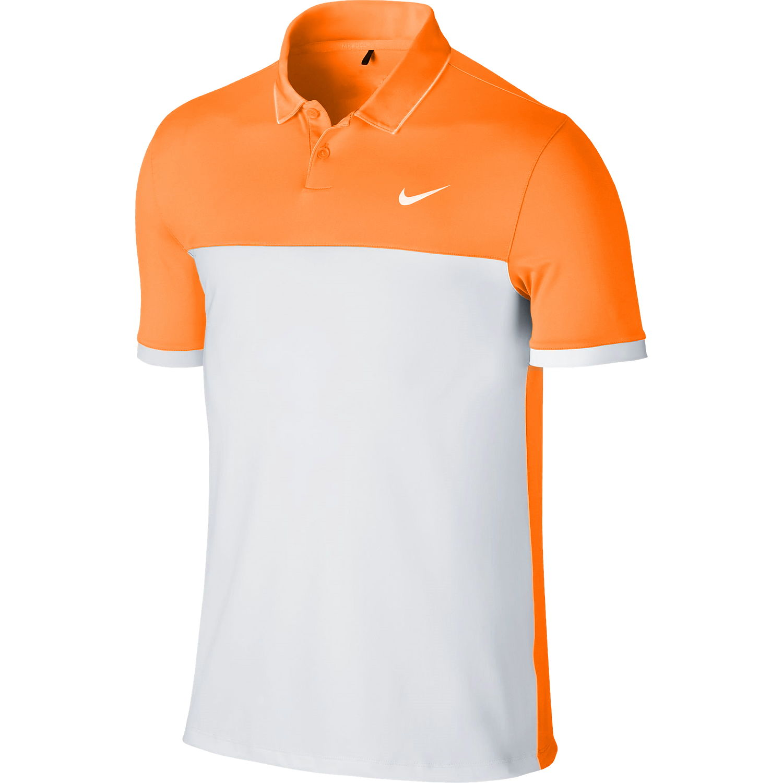 80ecfa7f Details about Nike Golf 'Mens' Light Orange Color Block Polo Shirt