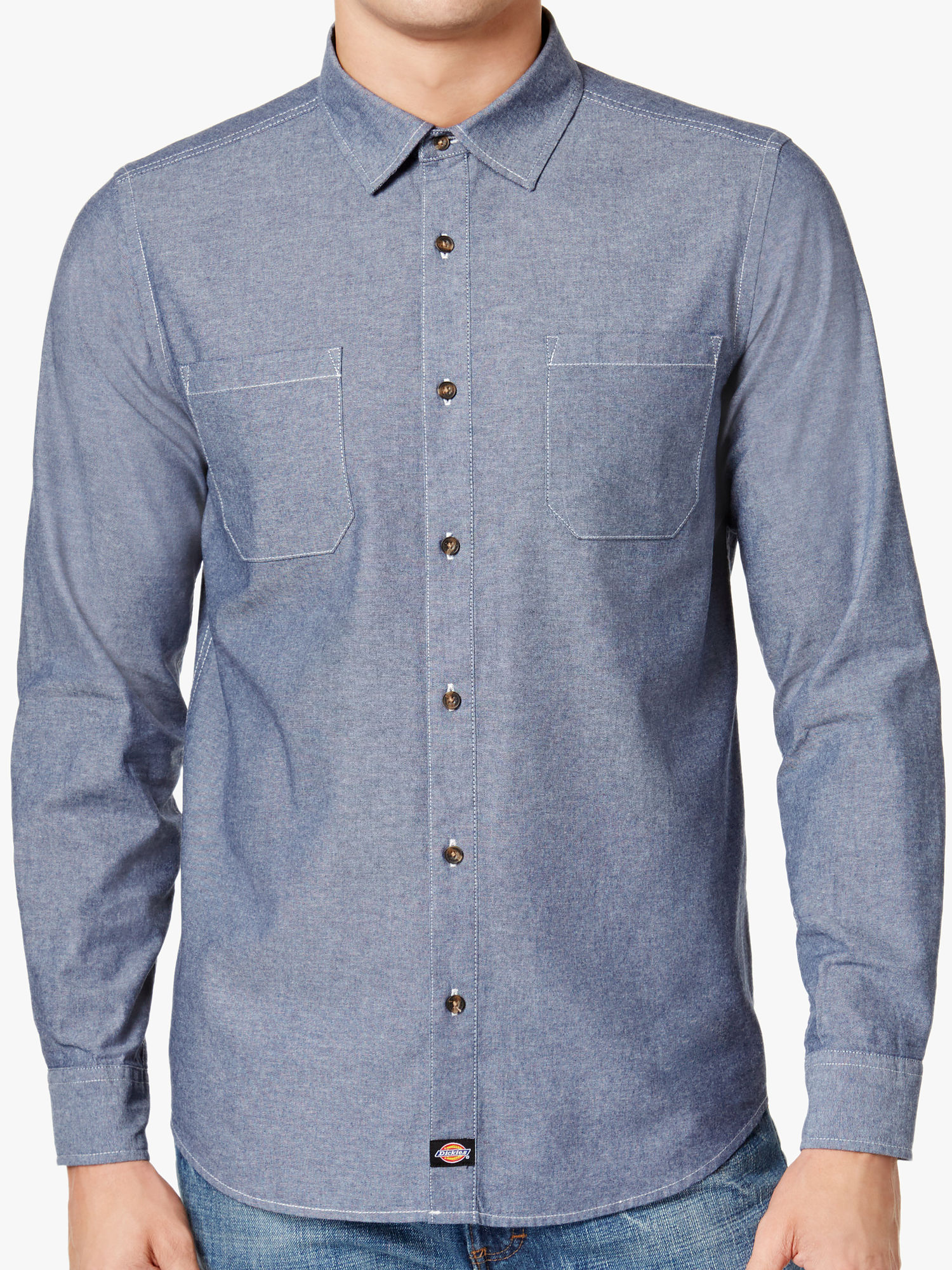 f245a792db Details about Dickies Men s Heather Button Down Shirt Sport (2XLarge