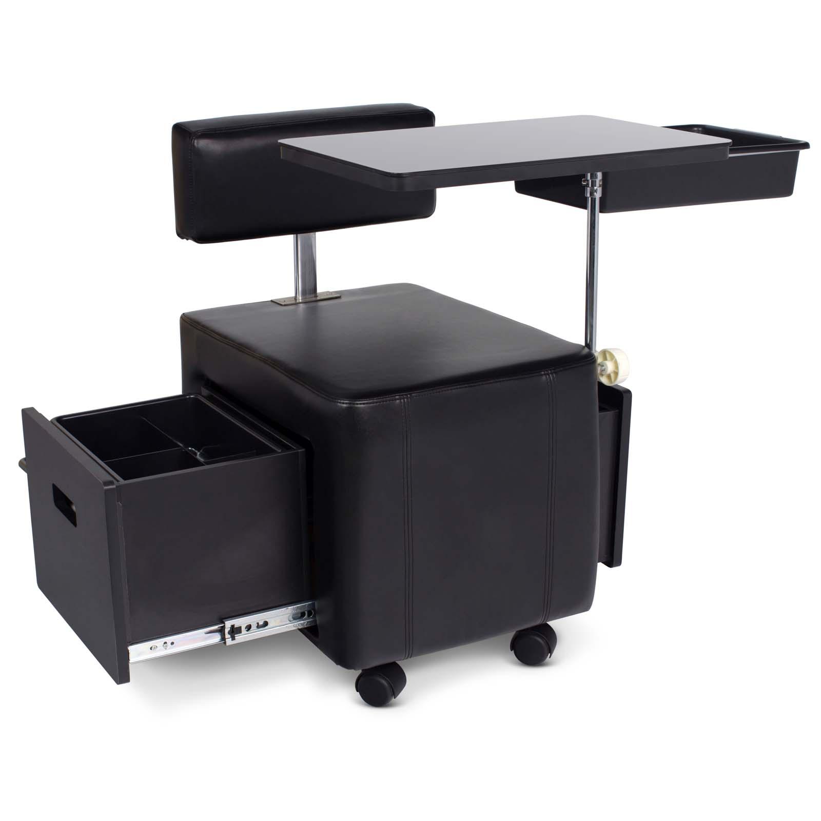tazo portable space saver manicure nail table ebay. Black Bedroom Furniture Sets. Home Design Ideas