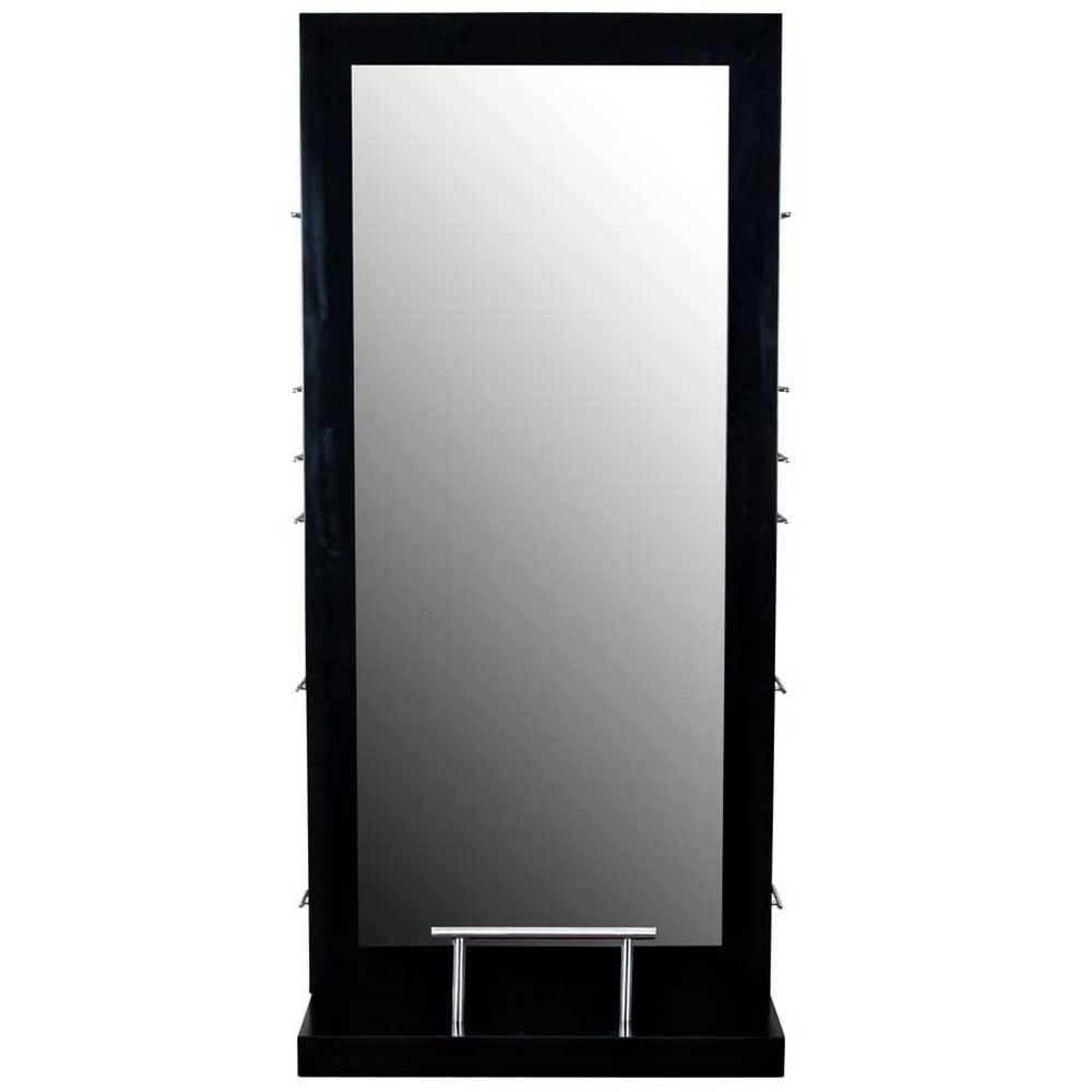 hair styling mirrors quot dallas quot black salon hair styling station amp mirror 2496