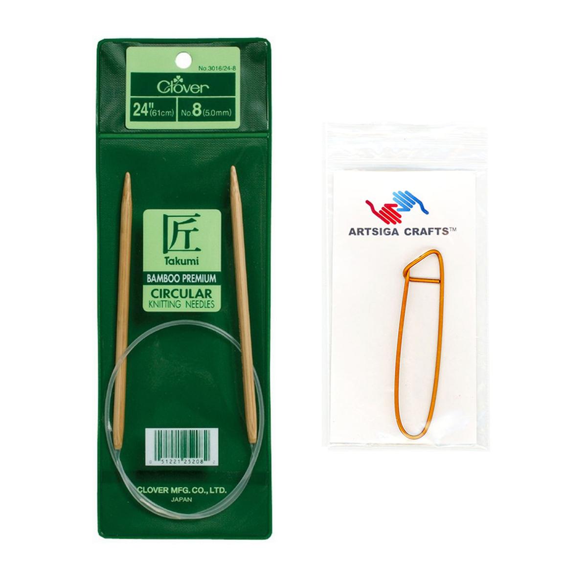 """2-2.75 mm Clover Bamboo CIRCULAR Knitting Needles 48/""""  No"""