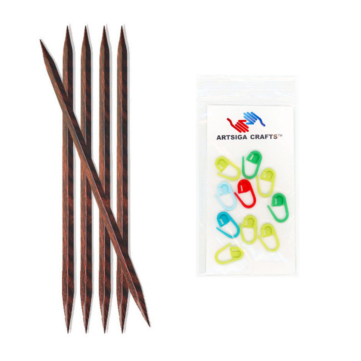 5x Knitpro Cubics Double Pointed Knitting Needles 15cm
