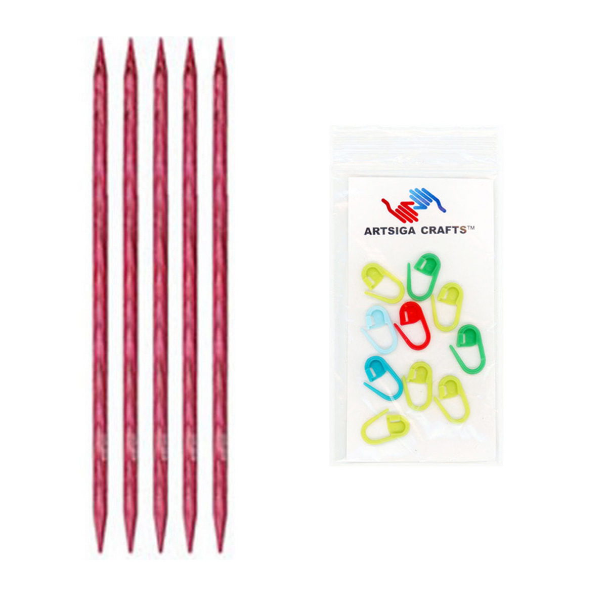 6 Knitters Pride 7//4.5mm Dreamz Double Pointed Needles