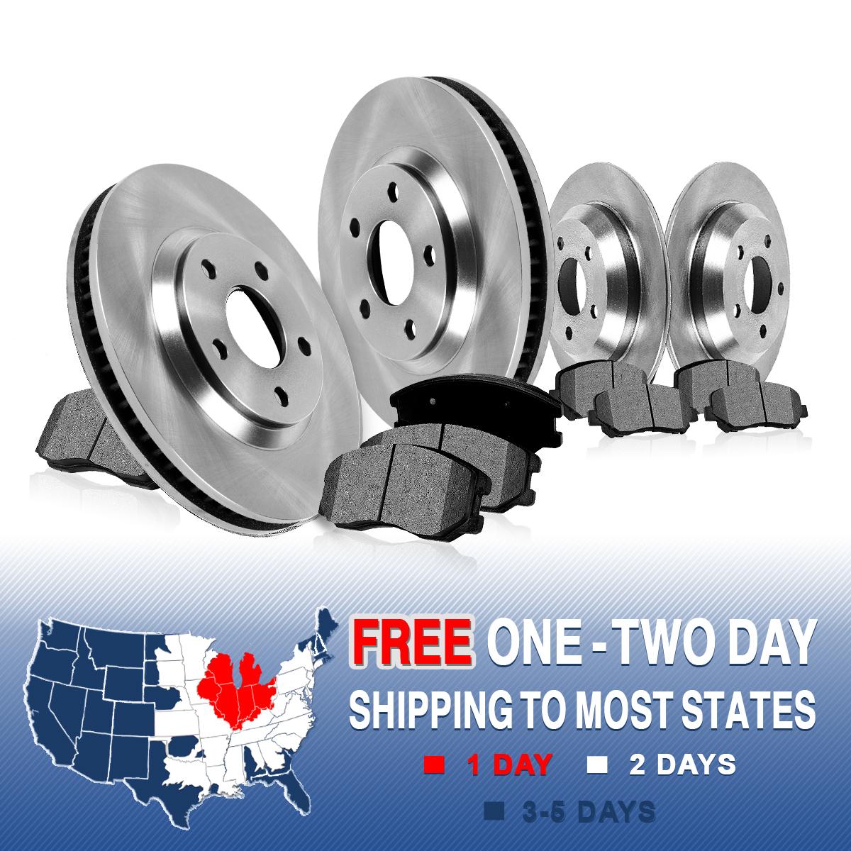 Ceramic Vs Metallic Brake Pads >> Front and Rear Rotors & Metallic Pads 2000 2001 2002 2003 2004 FORD F150 4X4 4WD | eBay