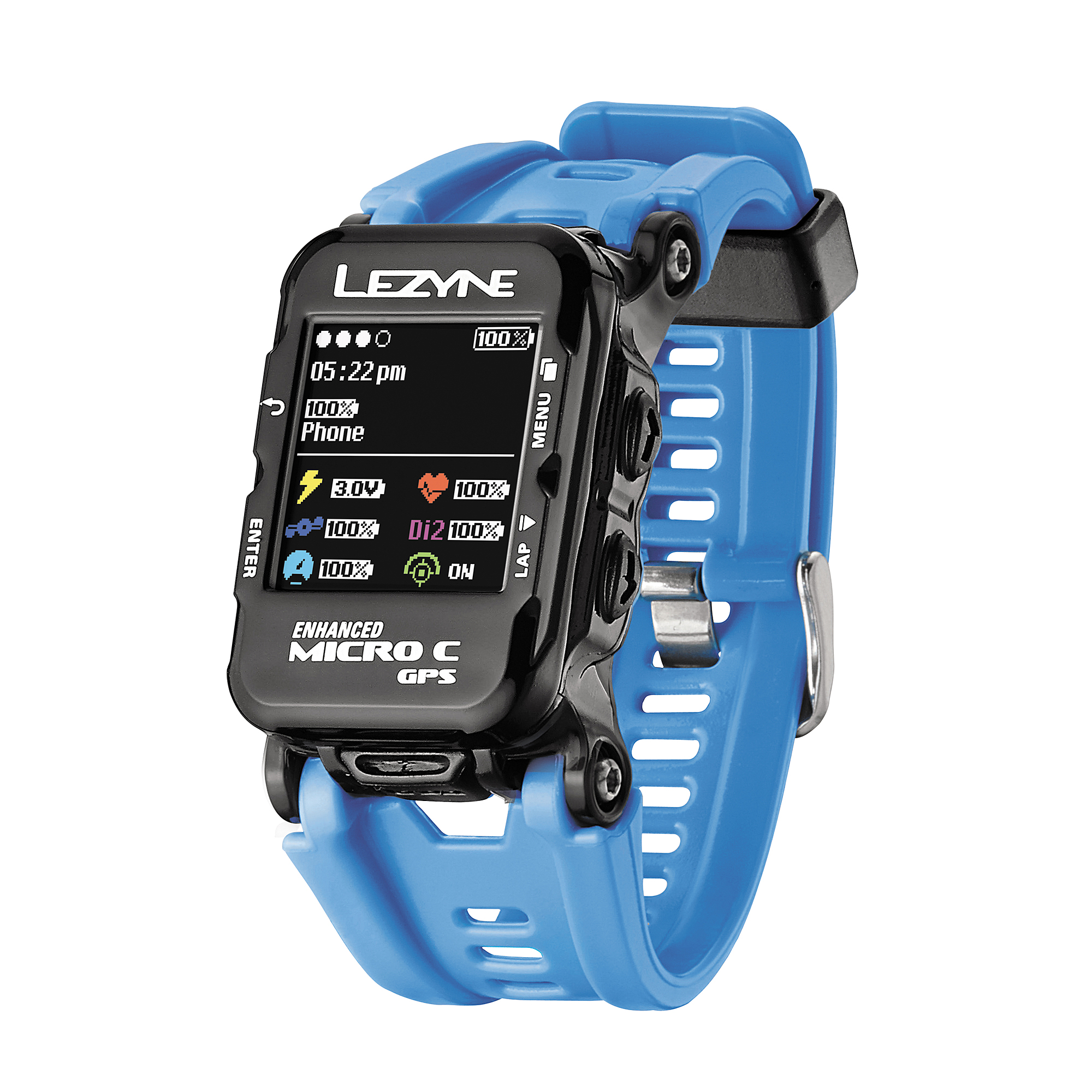 03bb02213837 Lezyne Micro GPS Watch With Color Screen And Heart Rate Blue ...