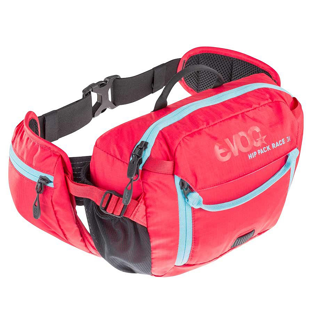 official store new collection cheap price EVOC Hip Pack Race Hydration Bag Red/Neon Blue 3L + 1.5L Bladder ...