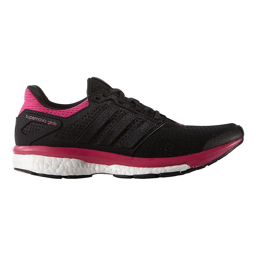 Adidas Women's Supernova Glide 8 Black/Black/Pink Size 6.5 ...