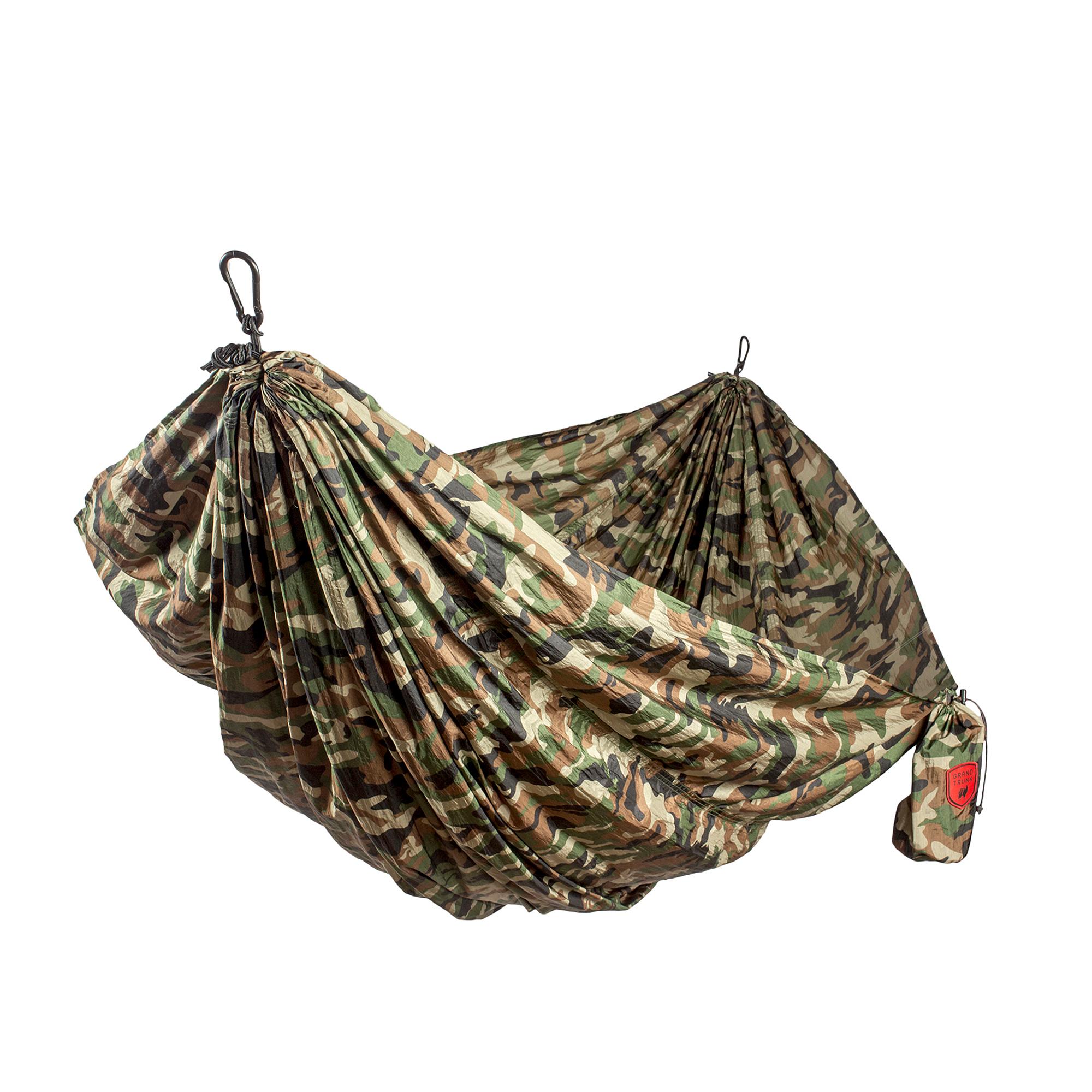 Grand Trunk Double Parachute Nylon Print Hammock Woodland Camo