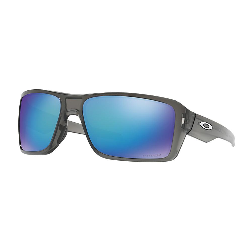Oakley Sunglasses Double Edge Grey Smoke w/ PRIZM Saphire Polarized
