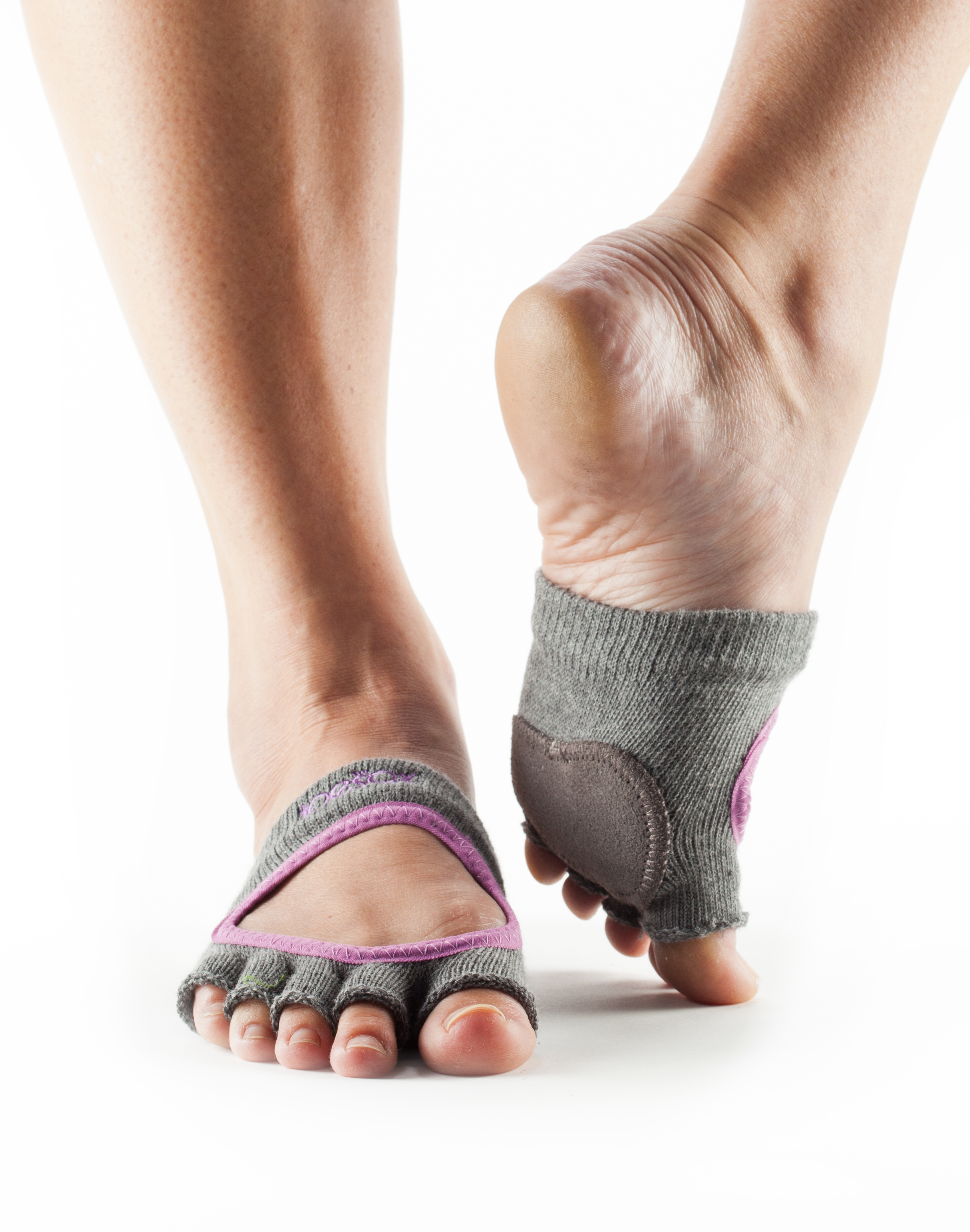 Toesox Half Toe: ToeSox Dance Half Toe Releve Fishnet Storm Size Small