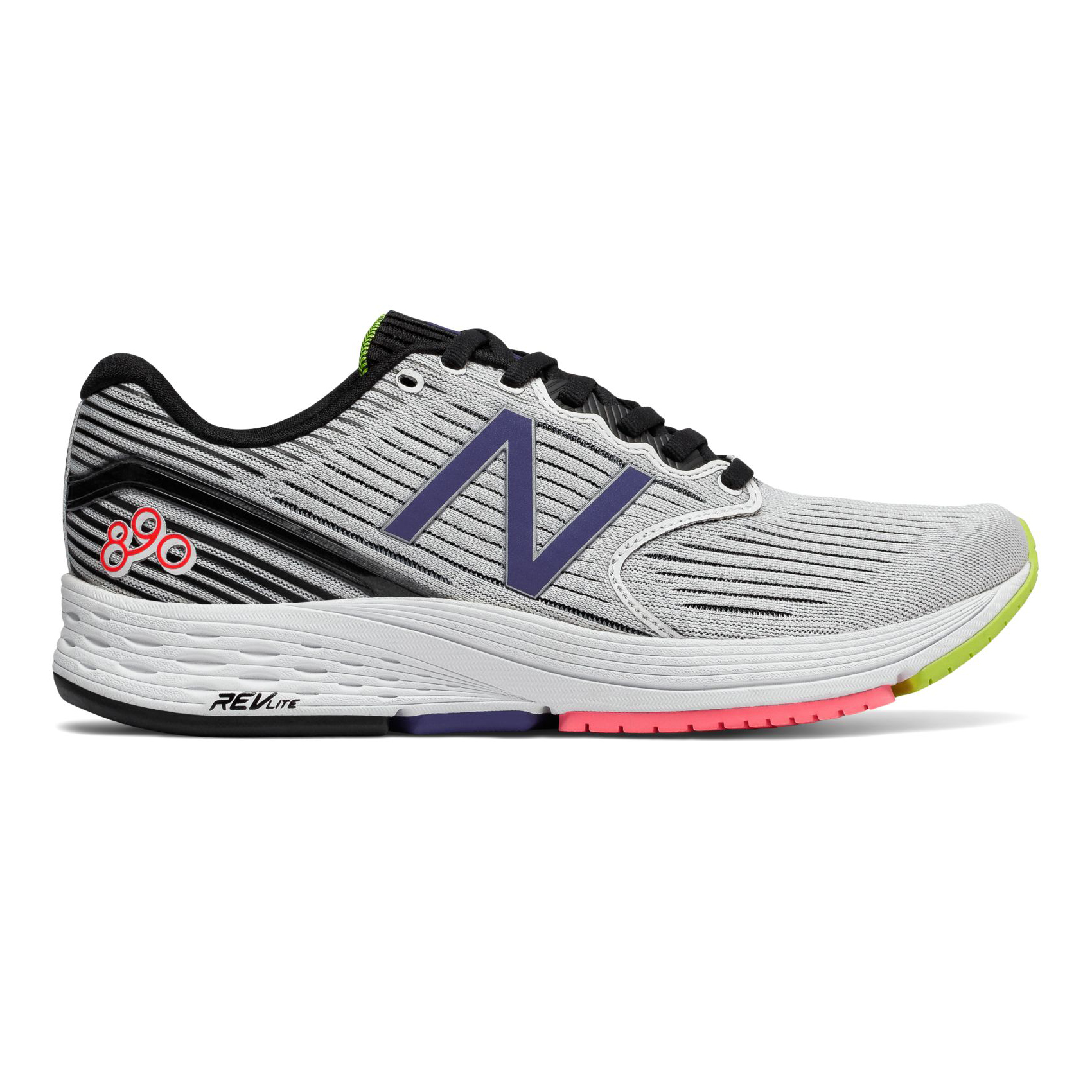 Details about New Balance Women's 890v6 NBx White/Black/Blue/Coral