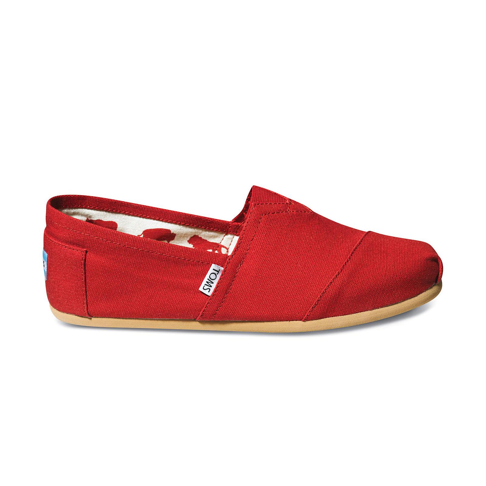Toms 001001a07 - Men Classics Canvas Red 11.5  c44f4ec9a