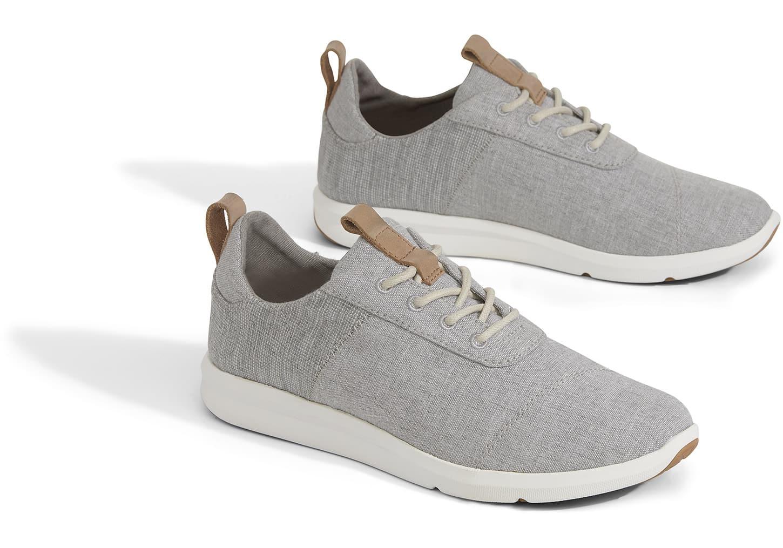 3216ec48ca6 TOMS Women s The Cabrillo Sneaker Drizzle Grey Chambray Mix